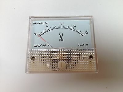 Analog Volt Voltage Panel Meter Voltmeter DC 0~20V  85C1 Brand New