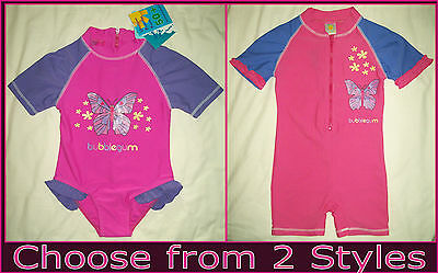 Baby RASHSUIT Sz 00 0 1 2 3 SWIMWEAR BATHERS Togs PINK & PURPLE Rash Sunsuit NEW