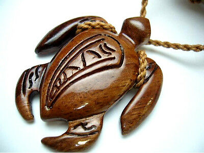 NEW Genuine Koa Wood Hawaiian Jewelry Turtle Pendant Choker/Necklace  # 45027