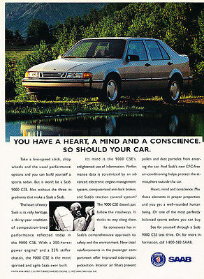 1993 Saab 9000 CSE - Lake - Classic Vintage Advertisement Ad D86