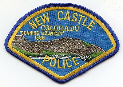 NEW CASTLE COLORADO CO Burning Mountain POLICE PATCH