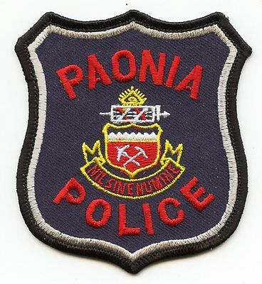 old vintage PAONIA COLORADO CO state seal POLICE PATCH