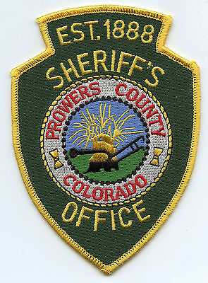 Prowers County Colorado Co Sheriff Police Patch