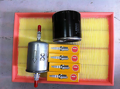 VAUXHALL ZAFIRA 1.6 & 1.8 16v SERVICE KIT OIL/AIR/FUEL & 4 SPARK PLUGS NGK