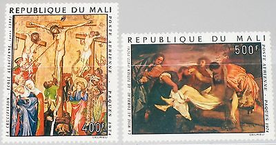 MALI 1974 431-32 C216-17 Easter Ostern Religion Paintings Gemälde Kunst MNH