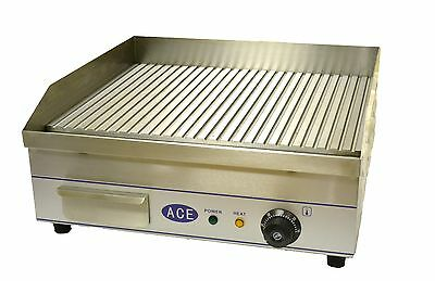 ACE RIBBED 50cm Electric Griddle HOTPLATE 3KW SPECIAL; PRICE