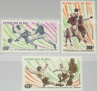 MALI 1977 604-06 C311-13 World Soccer Cup Elemination Games Fußball Football MNH