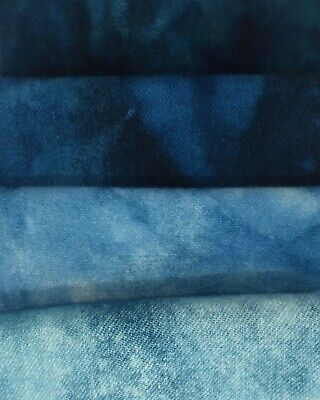 """Ice Blue Topaz"" -  hand dyed rug hooking wool fabric  (1) Fat Quarter 100% Wool"