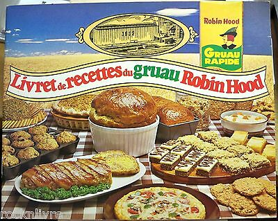 Livret de recettes du GRUAU ROBIN HOOD OATS Recipe Book VINTAGE COOKBOOK antique