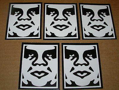 SHEPARD FAIREY Obey Giant Sticker 2.5 X 3 in WHITE TOP OBEY from poster print