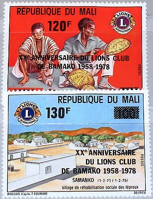 MALI 1978 642-43 303-04 20 Ann Bamako Lions Club ovp ÜD Men at work Village MNH