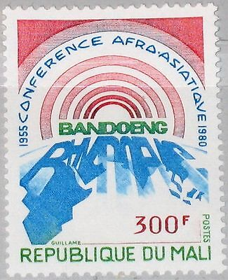 MALI 1980 793 385 25 Ann Afro-Asian Bandung Conf. Sun Rising over Map Africa MNH