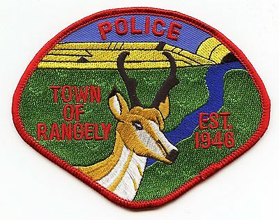 Rangely Colorado Co Police Patch