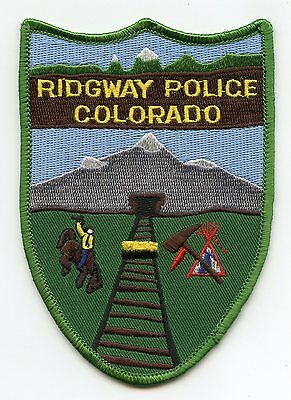 Ridgway Colorado Co Police Patch
