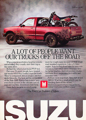 1987 Isuzu Pickup Trucks - Mud - Classic Vintage Advertisement Ad D91
