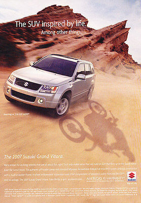 2007 Suzuki Grand Vitara - Inspired - Classic Vintage Advertisement Ad D90