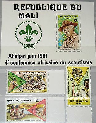 MALI 1981 859-61 Block 16 425-28 4th African Scouting Conf Pfadfinder Boy Scouts