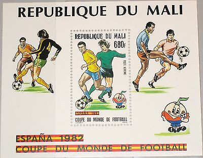 MALI 1982 Block 20 S/S C450 Soccer World Cup Fußball WM Spanien Football MNH