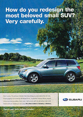2009 Subaru Forester - Lake - Classic Vintage Advertisement Ad D94