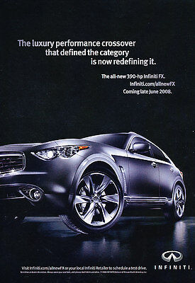 2009 Infiniti FX - Luxury - Classic Vintage Advertisement Ad D94