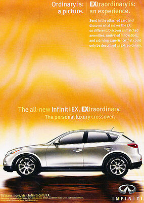 2008 2009 Infiniti EX EX35 Extraordinary - Classic Vintage Advertisement Ad D94