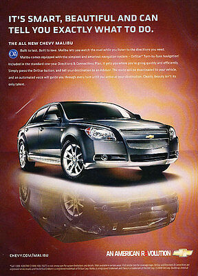 2008 Chevrolet Chevy Malibu - Smart - Classic Vintage Advertisement Ad D94