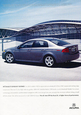 2004 Acura TL - Rocket - Classic Vintage Advertisement Ad D93