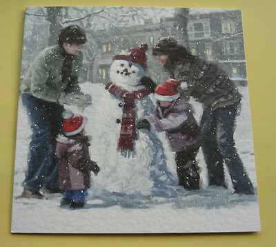 10 CHRISTMAS CARDS. Excellent Quality with Envelopes.  'WINTER FUN'