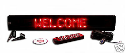 """New! One Line Semi-Outdoor ULTRA BRIGHT RED LED Programmable Scrolling Sign 26"""""""