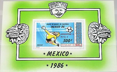 MALI 1986 Block 26 S/S 537 Soccer World Cup Mexico Fußball WM Football MNH