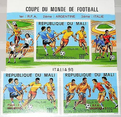 MALI 1990 1133-34 Block 29 C555-57 Final Games Soccer World Cup Italy ovp ÜD MNH