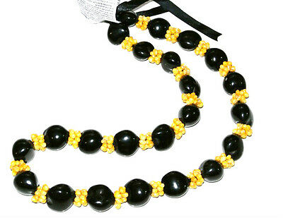 Hawaii Wedding / Graduation Kukui Nut Lei Luau Hula Necklace ~ 27011 ( QTY 2 )