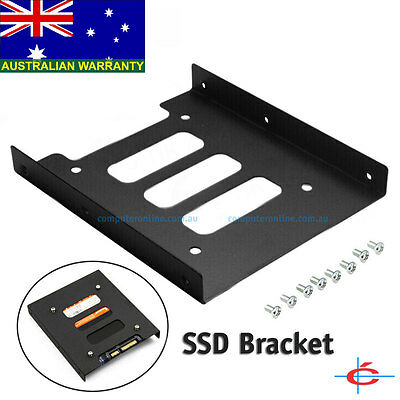 """Metal 3.5"""" Hard Drive Mount Bracket for 2.5"""" Solid State Drive (SSD) or HDD"""