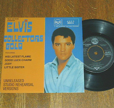 """*<* RARE UNPLAYED MINT ELVIS """"COLLECTORS GOLD"""": 1982 UK-only EP w/PICTURE COVER!"""