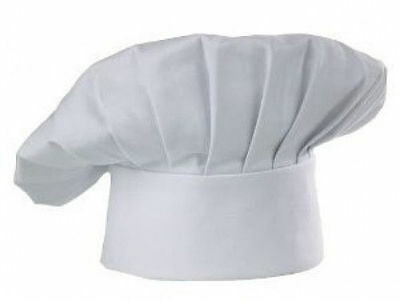Usa Seller  Cloth Chef Hat One Size Fits All  Velcro Closurer