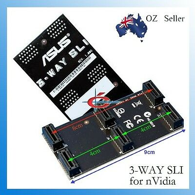 New 3-way or 2 way ASUS nVidia SLi Bridge Cable Connector Adapter 8cm