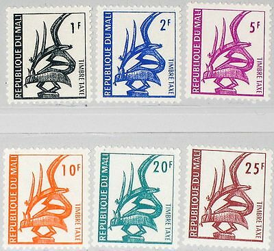 MALI 1961 Portomarken 1-6 Postage Due Stamps J1-J6 Kunst Local Art Headpiece MNH