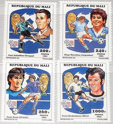 MALI 1994 1196-99 A 604-07 Soccer World Cup USA Fußball WM Football Player MNH