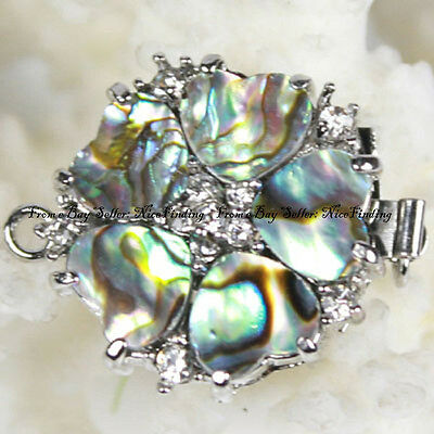Natural MOP/Abalone Shell Zircon Clasp 1 Strand Finding