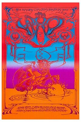 ROCK: The Who at Hollywood Palladium * Psychedelic * Concert Poster from 1969