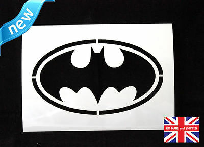 Reusable BATMAN Airbrush Painting Stencil Sign Wall Door Floor Pavement Crate v1