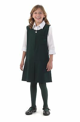 Girls back to school single pleat pinafore dress BNWT Made in Britain