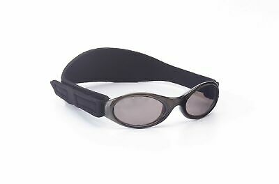 Baby Banz Sunglasses 100% UV Protection Soft Neoprene Band Black Children 6-18m
