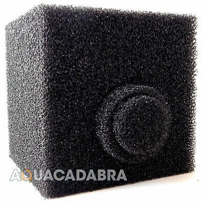 "8"" Cube Pond Filter Foam Off Centre Hole Pre-Filter Sponge Block 8 Inch Fish"