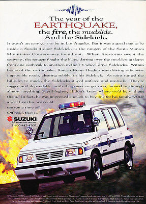 1994 Suuzki Sidekick - Ranger - Classic Vintage Advertisement Ad D103
