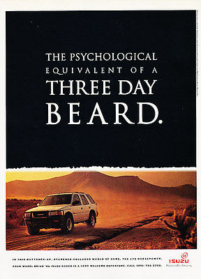 1994 Isuzu Rodeo - Beard - Classic Vintage Advertisement Ad D101