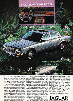 1988 Jaguar XJ6 - Evolution - Classic Vintage Advertisement Ad D104