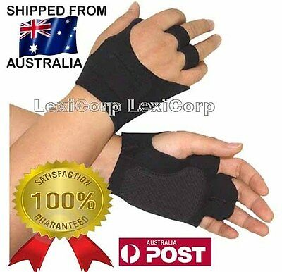 NEW GYM GLOVES Weight Lifting cycling Fitness Black - Bargain  FREE POSTAGE