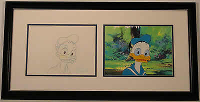 *SALE* ORIG PROD CEL & DRAWING of DONALD DUCK from DISNEY's 1982 film CAREERS