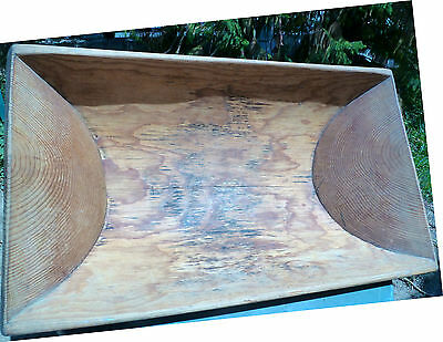 Xmas Gift! Cyprus Antique Wooden Baking Pot,handmade,37''x21.25''old,excellent